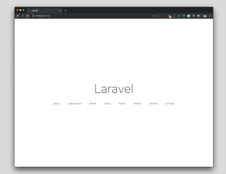 Laravel funcionando en local